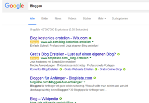 B wie bloggen