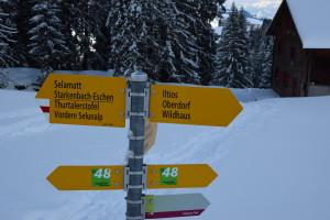 Winterweg Iltios nach Sellamatt