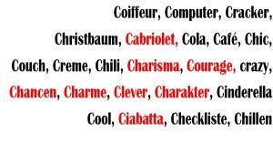 C Wörter