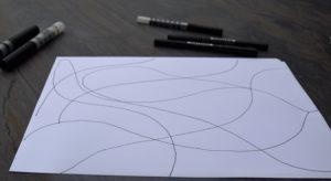 Linien doodeln