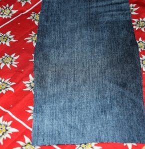 länglichen Stoffstreifen aus Jeans- Edelweiss